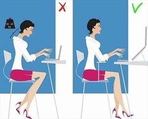 Как правильно сидеть за ноутбуком