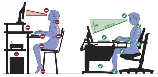 Как правильно сидеть за компьютером чтобы сохранить осанку