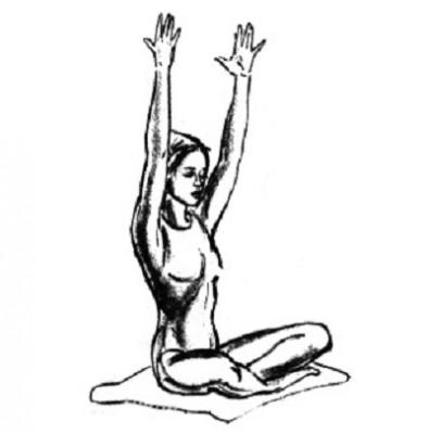 Упражнение 4 - вытяжение для гибкости и омоложения позвоночника