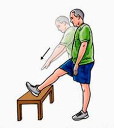 Упражнение по растяжке подколенного сухожилия
